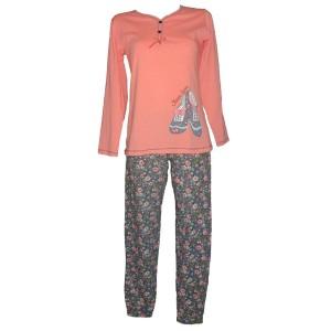 d.pijama baray 6566 koral f3